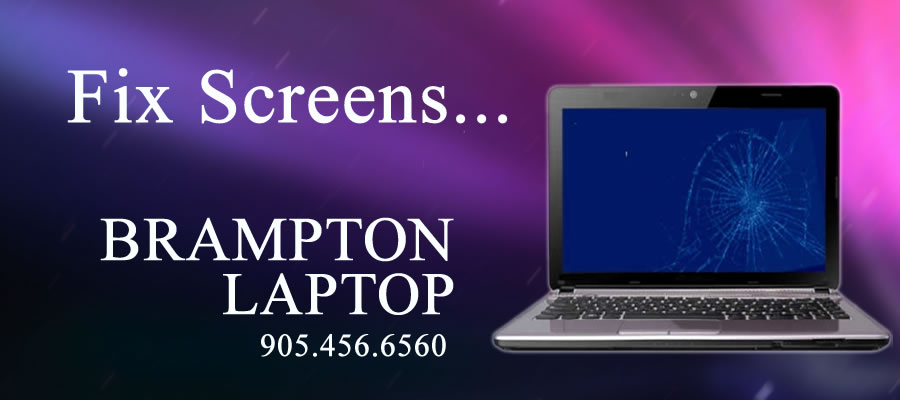Fix broken laptop screens in Brampton